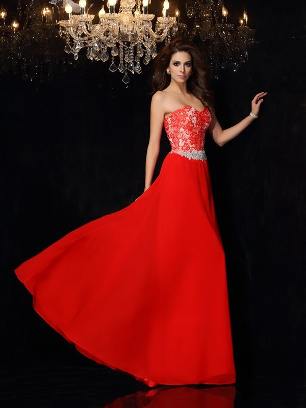 A-Line Sweetheart Short/Mini Red Prom Dresses with Lace