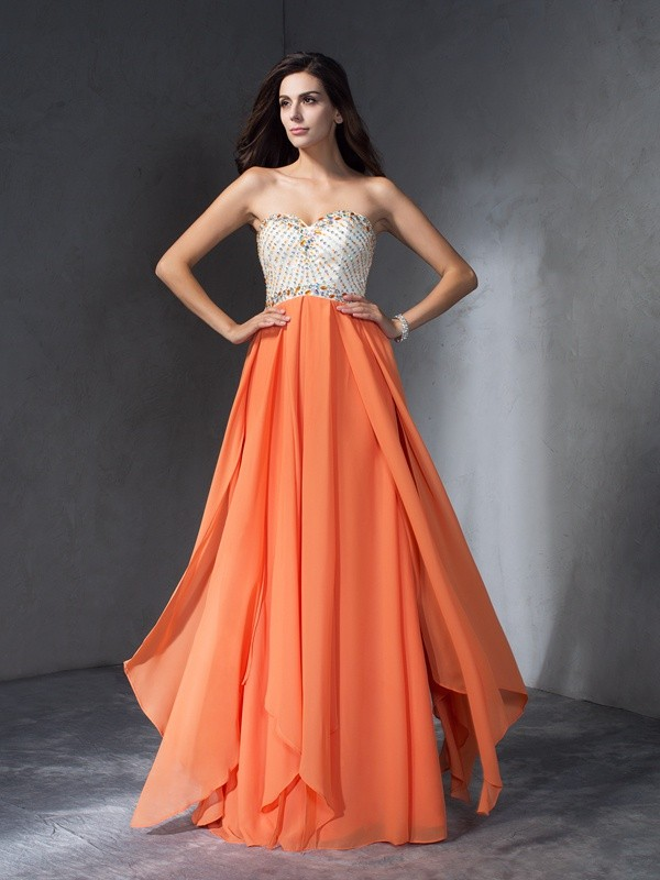Chiffon Sweetheart Floor-Length Other Prom Dresses