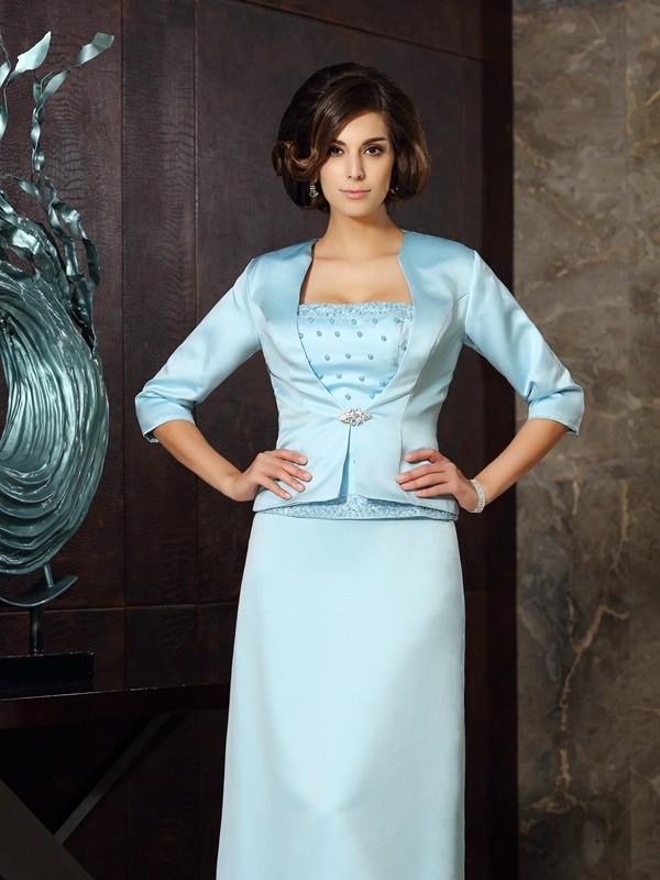 Satin 3/4 Sleeves Special Occasion Fashion Wrap
