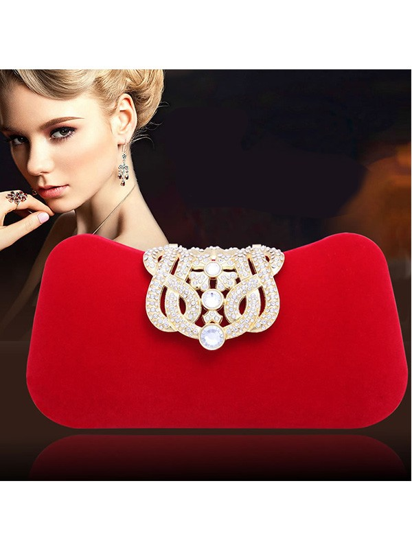 Elegant Rhinestone Pillow Party/Evening Bag