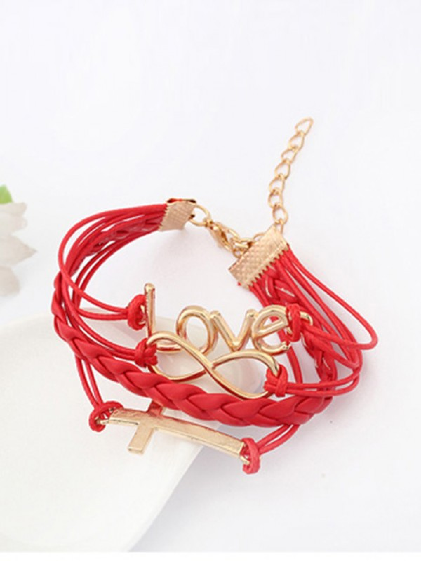 Korean version Romantic Password love Cross Fashion Bracelets