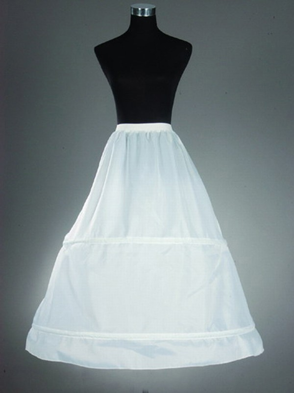 Nylon A-Line 1 Tier Floor Length Slip Style Wedding Petticoat