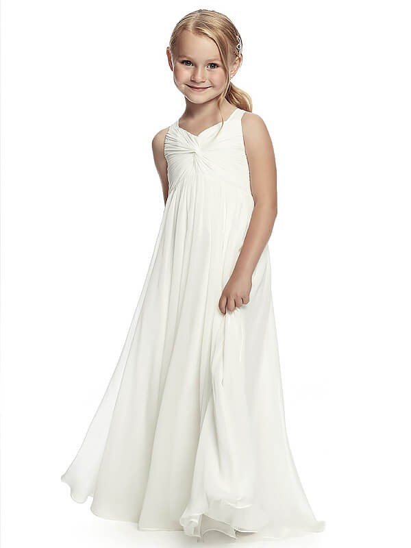 A-Line Straps Floor-Length White Flower Girl Dresses