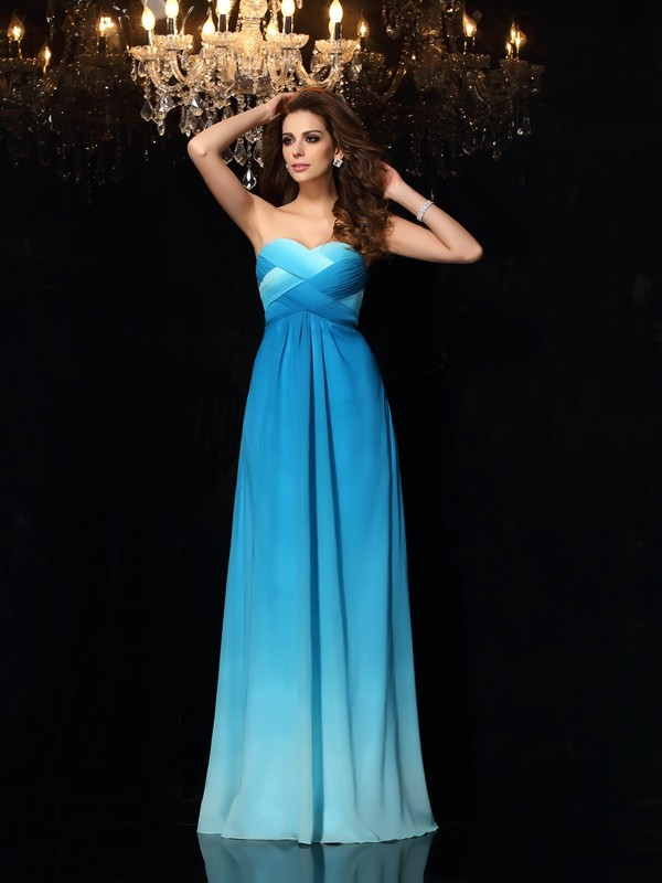 A-Line Sweetheart Floor-Length Multi Colors Prom Dresses