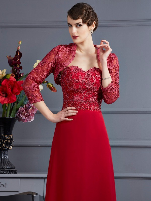 Net 3/4 Sleeves Applique Special Occasion Fashion Wrap