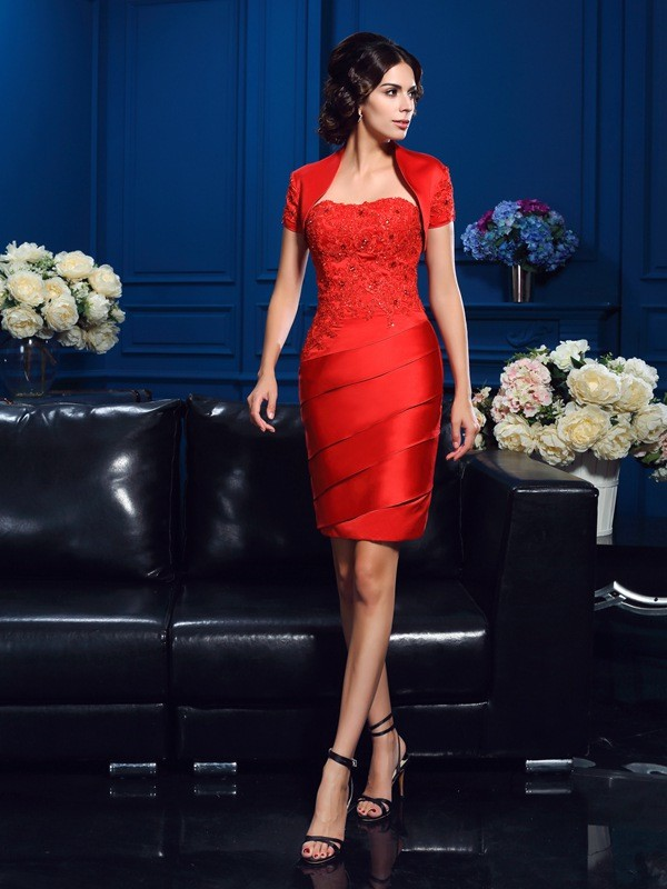Short Sleeves Satin Special Occasion Fashion Wrap