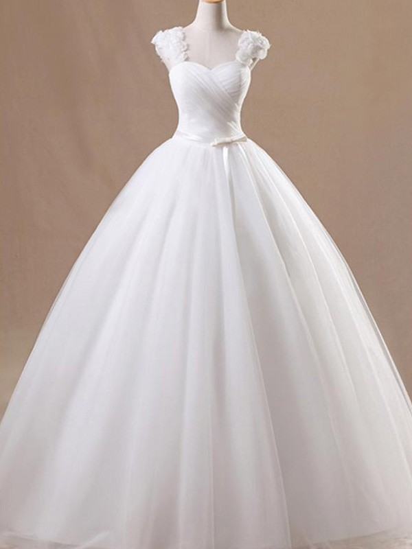 Ball Gown Square Floor-Length White Wedding Dresses
